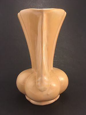 Niloak Art Eagle Pottery Vase Winged Victory WWII Yellow 6""