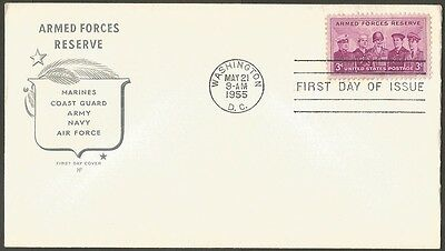 Us Fdc 1955 Armed Forces Reserve 3C Stamp Hf Cachet First Day Of Issue Cover