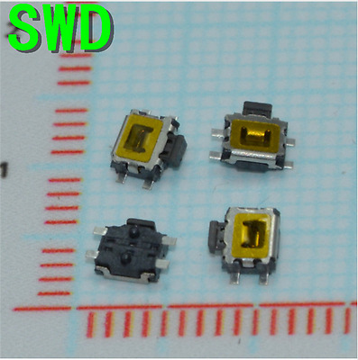 10pcs  3*4mm Micro Switch smd 4pin Micro buttons Key for Mobile Phone machine