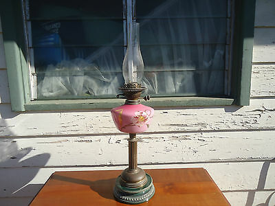 antique kerosene lamp , shabby chic  display