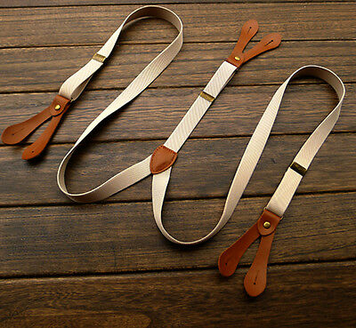Men's Unisex Suspenders Adjustable Six Button Holes Braces Fashion Style Straps