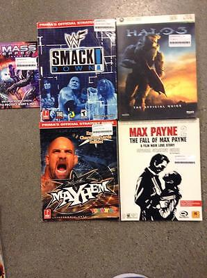Lot of 5 USED Assorted STRATEGY GUIDES! **USED**