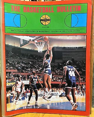 The Basketball Bulletin Fall 1989 (NABC journal:  Coaching articles, history)