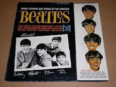 Beatles Songs Pictures Stories Phonograph Record Album Vintage 1964 STEREO