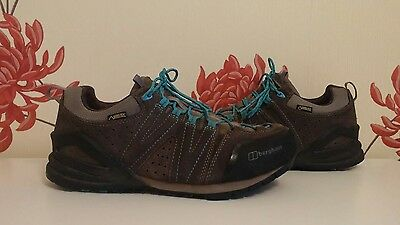 Berghaus Brown Suede Gtx Gore-Tex Ladies Hiking Trainers Shoes Size 7 Uk 40.5 Eu