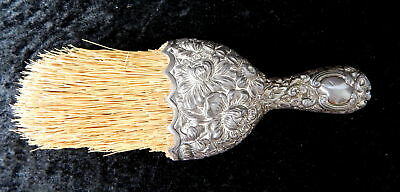 Antique Gorham Floral Chased Sterling Silver Vanity Clothing Crumber Brush