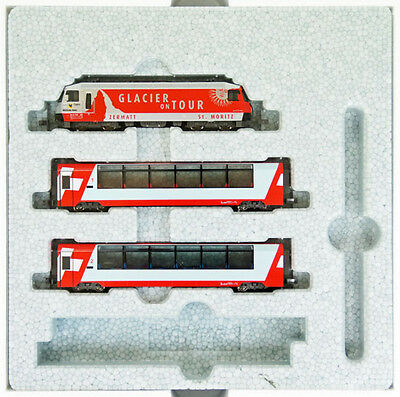 Swiss Alps Glacier Express 3 Cars taken from Kato 10-006 (N scale)
