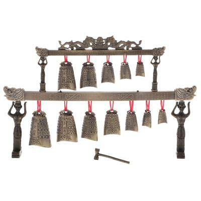 China Bronze Antique Instrument Chime Bell Statue Business Gift Collectibles