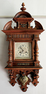 Antique German  Wall Clock in walnit