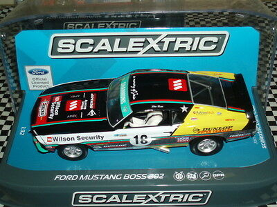Scalextric C3728  Ford Mustang 1969 John Bowe #18 Mint Boxed