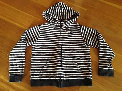 Esprit girls Size 12 Striped Zippered Cotton Fleece Hoodie