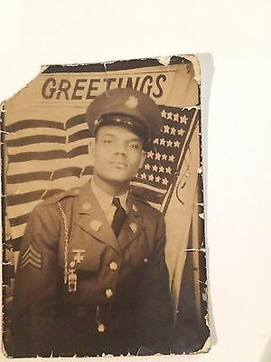 """Photo of Black African American soldier from South Carolina 2x3"""" image 1942"""