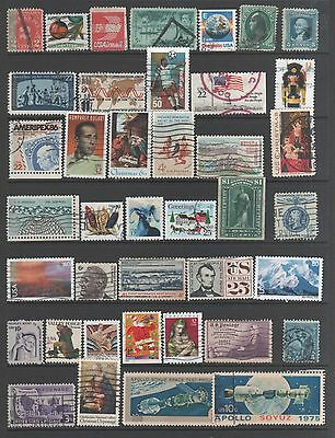 Small Collection of  United States  Stamps 10 All The Stamps Pictured