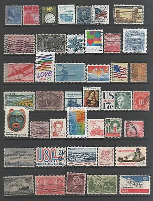 Small Collection of  United States  Stamps 11 All The Stamps Pictured