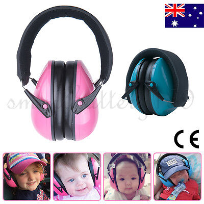 Quality New Kids Babiy Earmuffs Hearing Noise Protection Ear Muffs Pink Blue