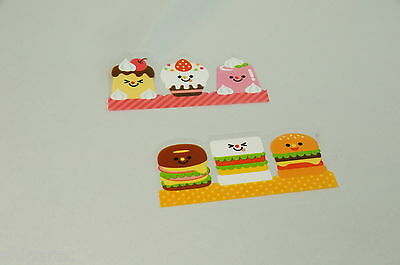 """Partition for Bento, Sushi, or Lunch box  """"Food Character Baran"""" 12 pieces"""