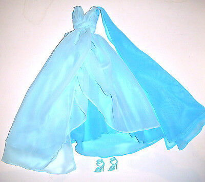 Silkstone Barbie Fashion Blue Chiffon Ball Gown For Barbie Dolls bc2