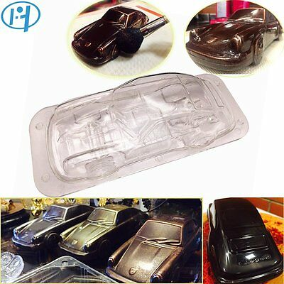 3D Car Shape Plastic Chocolate Mold Polycarbonate Candy Mould Cake Bake Tool