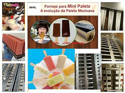 Paletas ice cream popsicle molds stainless steel molds 26pcs 86ml high quality