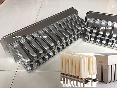 Ice cream popsicle molds stainless steel molds 2x13 90ml megamix ataforma type