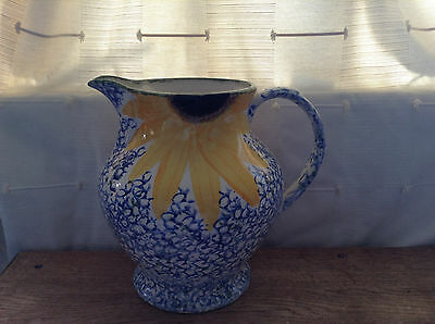 X.Large. Poole Pottery Vincent Sunflower Water Pitcher Jug