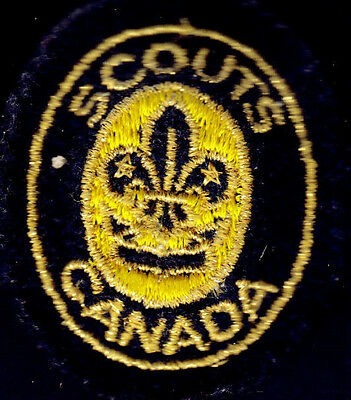 Boy Scouts Canada Padded Oval Hat Badge In Gold Thread