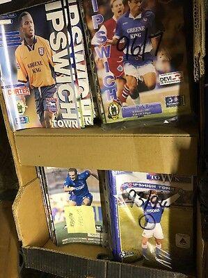 Ipswich Town Home Football Programmes available 1990's