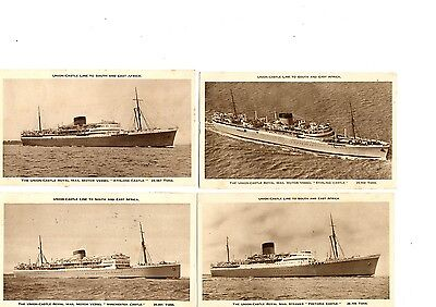 Ships - Union & Castle Line to South & East Africa Postcards * 4