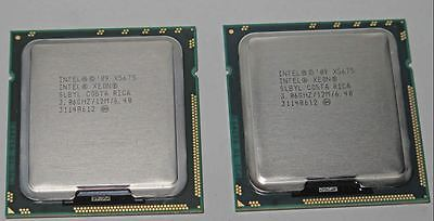 Matched Pair of  INTEL XEON X5675 3.06GHz 12MB SLBYL SIX CORE 6C CPU PROCESSORS