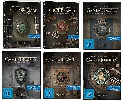 Game of Thrones Staffel 1+2+3+4+5+6 (1-6) Blu-ray Steelbook Set NEU OVP