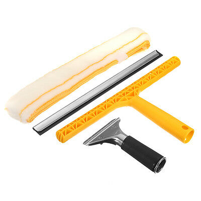 Professional Glass Window Soap Wiper Cleaning Squeegee Blade + Cleaner Tool Kit