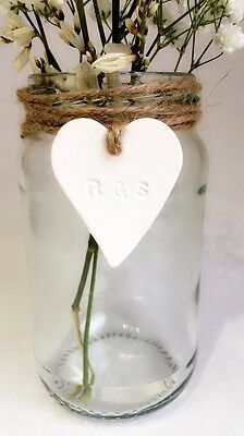 Glass Jars - Rustic Shabby Chic Vintage Wedding Centrepiece Hessian Twine Lace