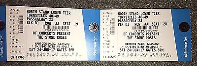 2 X Stone Roses, Reserved Seating, Hampden, Glasgow