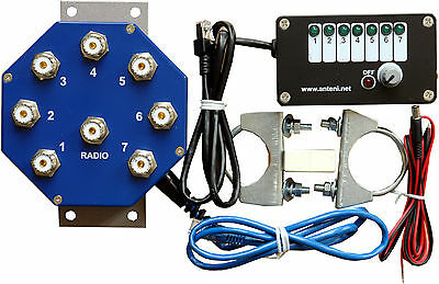 REMOTE ANTENNA COAXIAL SWITCH MS-S7, 7 POSITIONS, 2 KW PEP, Ready for use set