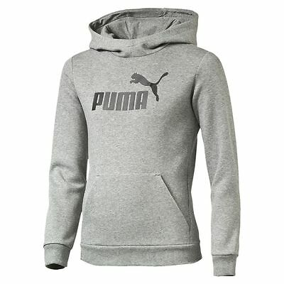 Puma Kids Boys ESS No.1 Sports Athletic Hoodie Hooded Sweatshirt Top Grey