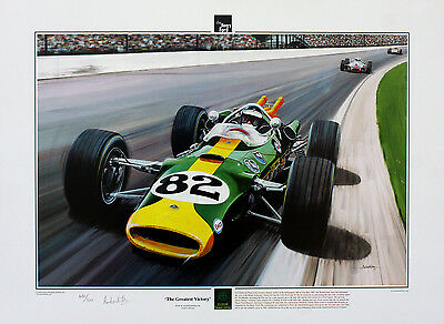 Jim Clark Indy 500 - Limited Edition Print by Andrew Kitson