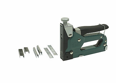 Mannesmann 3 & 1 Staple & Nail Gun Tacker Upholstery Stapler 1500 Nails Staples