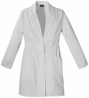 "Dickies EDS 84402 Women's 34"" Lab Coat Medical Uniforms Scrubs"