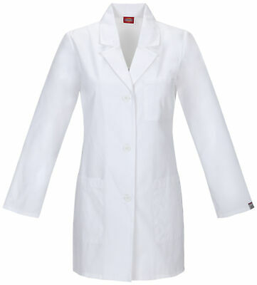 "Dickies EDS 84400AB Women's 32"" Women's Lab Coat Medical Uniforms Scrubs"