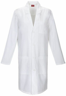 "Dickies EDS 83403 Unisex 40"" Unisex Lab Coat Medical Uniforms Scrubs"