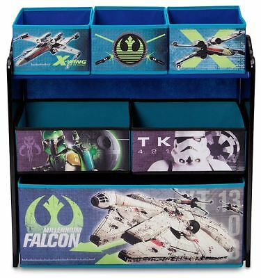 Delta Children Star Wars Multi Bin Toy Organiser, Kids Storage Unit / Toy Chest