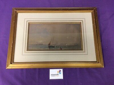 Gold Framed Seascape by Unknown Artist