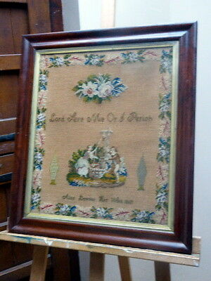 Sampler Lord Save Me Or I Perish Alice Downes Her Work  1867   Free Shipping
