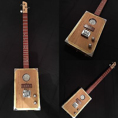 "Cigar Box Guitar. MADE TO ORDER ""LIGHTNING BOY"" from Birdwood Guitars"