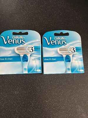 Gillette Venus 3 Blades X 2 Packs Of 4