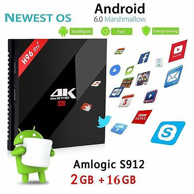Pro H96 For Android Player 2+16G Eight Core Android 6.0 TV BOX WiFi BH