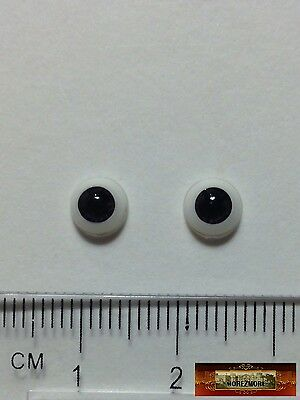 M01154a MOREZMORE Doll Eyes 6 mm BLACK VIOLET Miniature Acrylic Flat Back A60