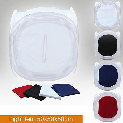 "M01138a MOREZMORE 50 cm 20"" Soft Light Box Photo Cube Tent Box + 4 Backdrops NDY"