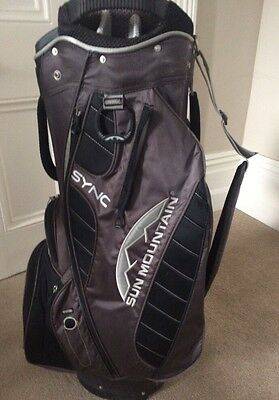 Sun Mountain Sync Cart Bag / Black Grey / 14-Way Divider