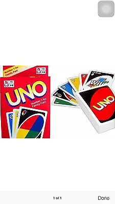 UNO CARDS Family Fun Playing Card Educational Toy Theme Board Game